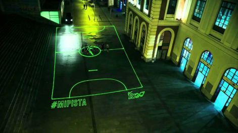Nike Launches On-Demand Laser Beam Street Football Pitch